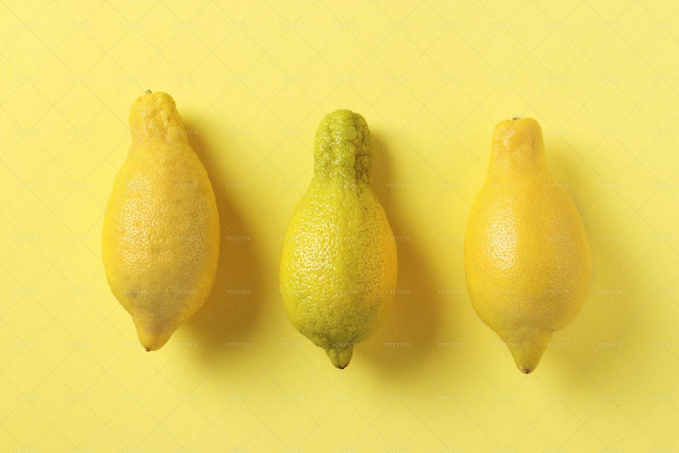 Three Ugly Lemons: Stock Photos