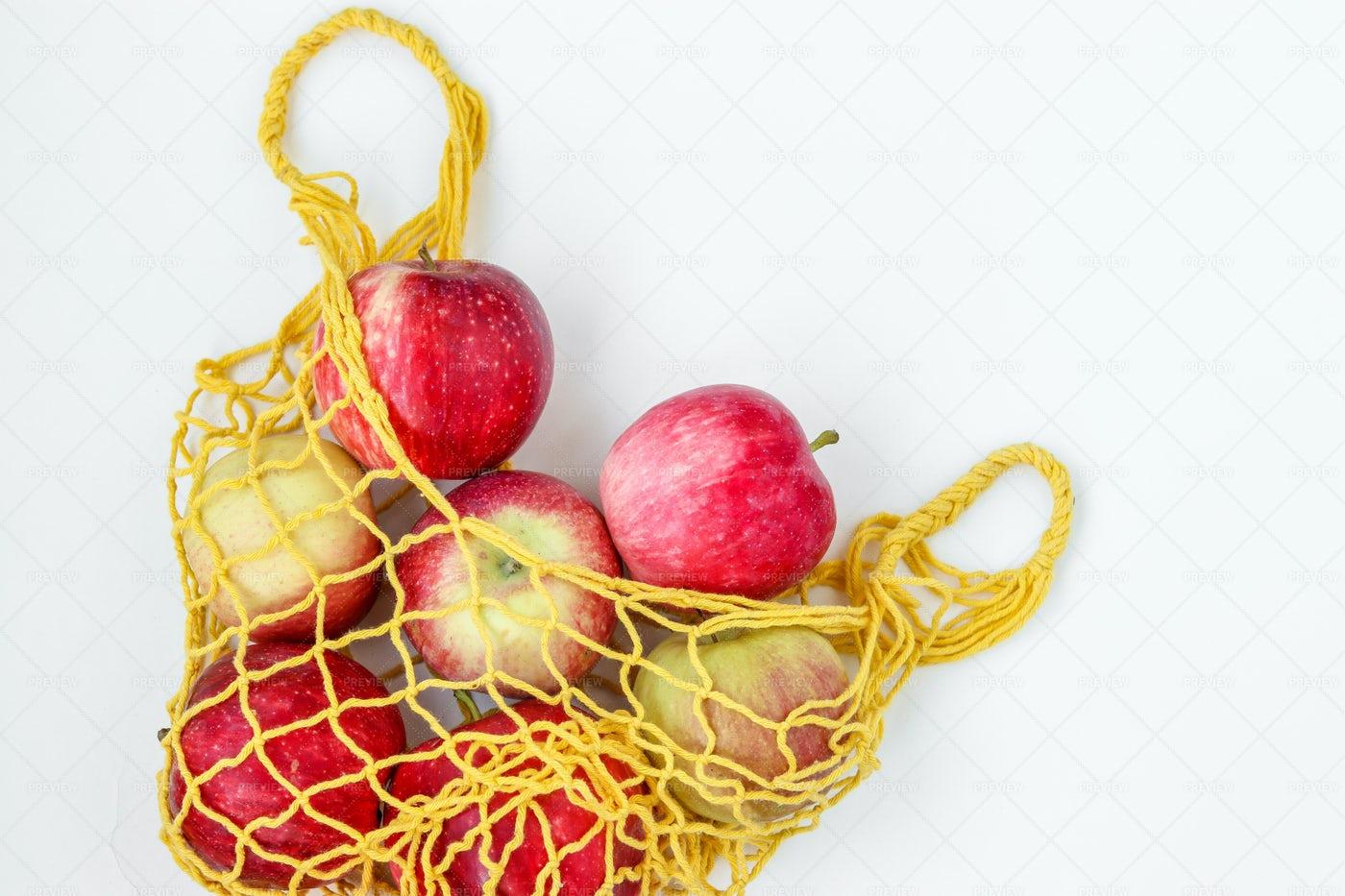 A Sack Of Apples: Stock Photos