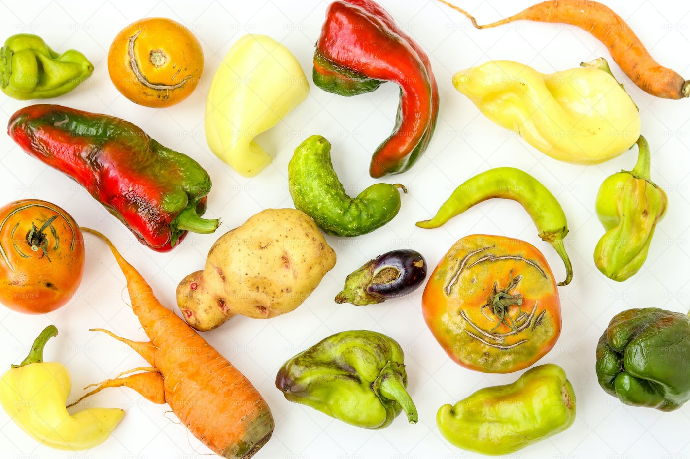 Ugly Vegetables: Stock Photos
