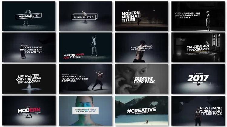 Minimal Art Titles: Premiere Pro Templates