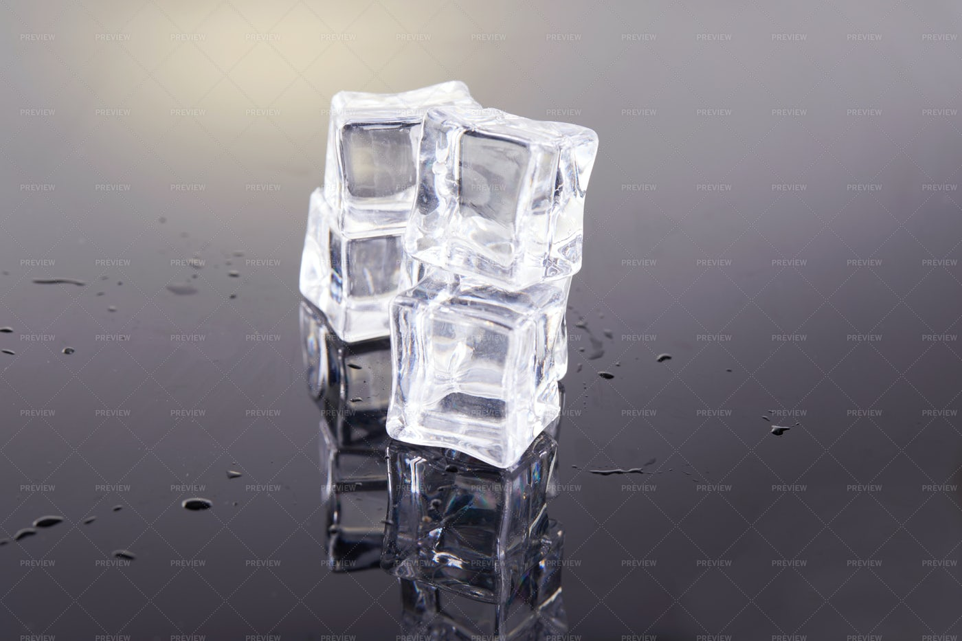 Stacked Ice Cubes: Stock Photos