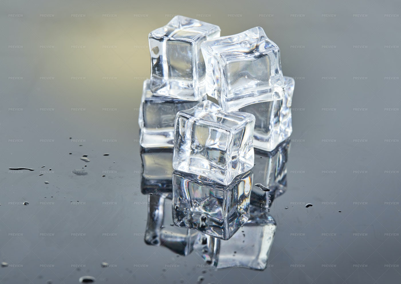 Small Ice Cube Stack: Stock Photos