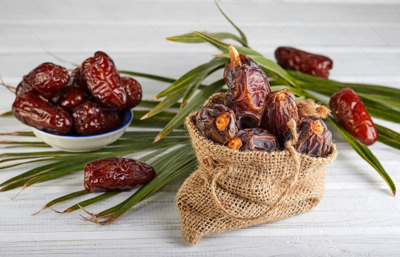 Dates In The Sack: Stock Photos