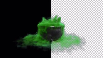 Witch Cauldron With Green Smokey Liquid: Motion Graphics