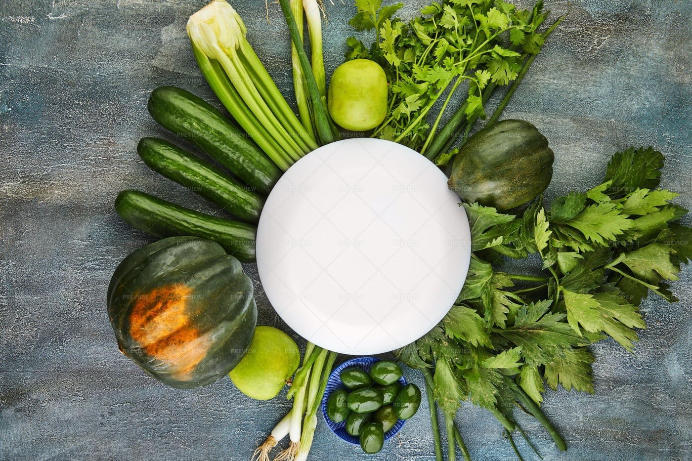 Vegetables Of Green Color: Stock Photos