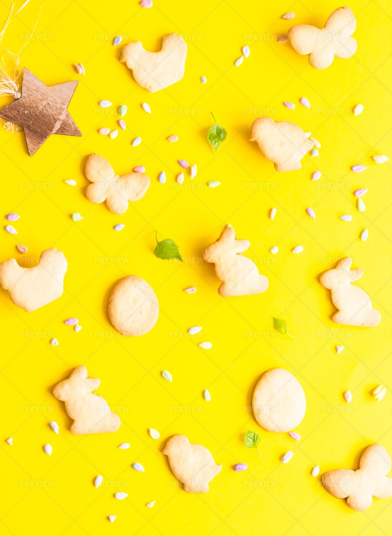 Cookies For Easter: Stock Photos