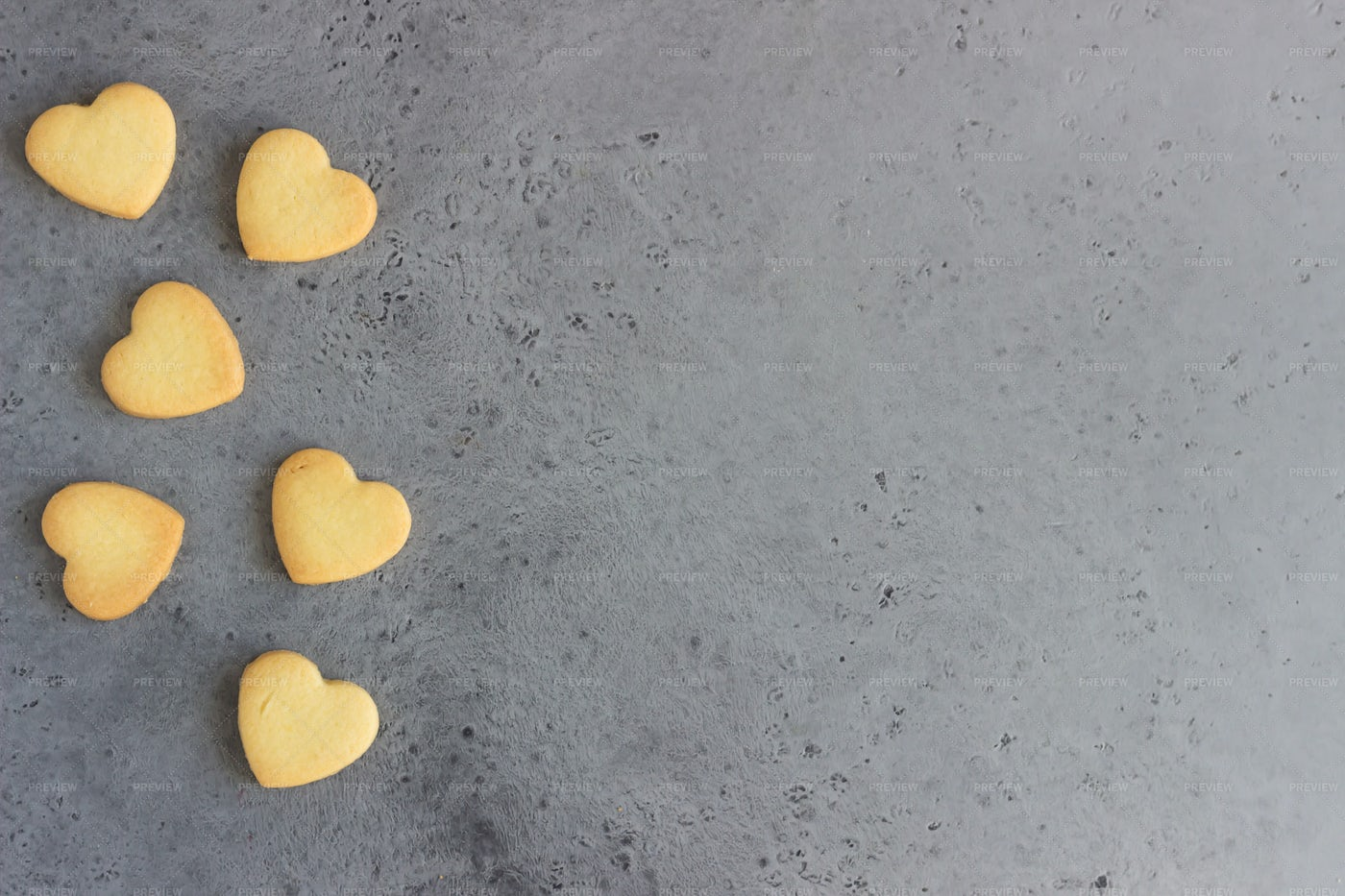 Small Heart-Shaped Cookies: Stock Photos