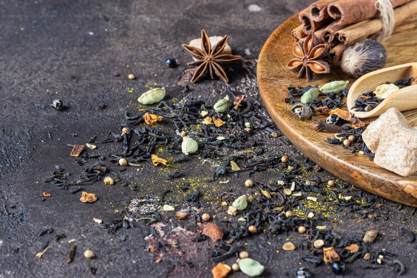 Spices For Tea: Stock Photos