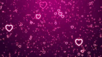 Hearts Background: Motion Graphics