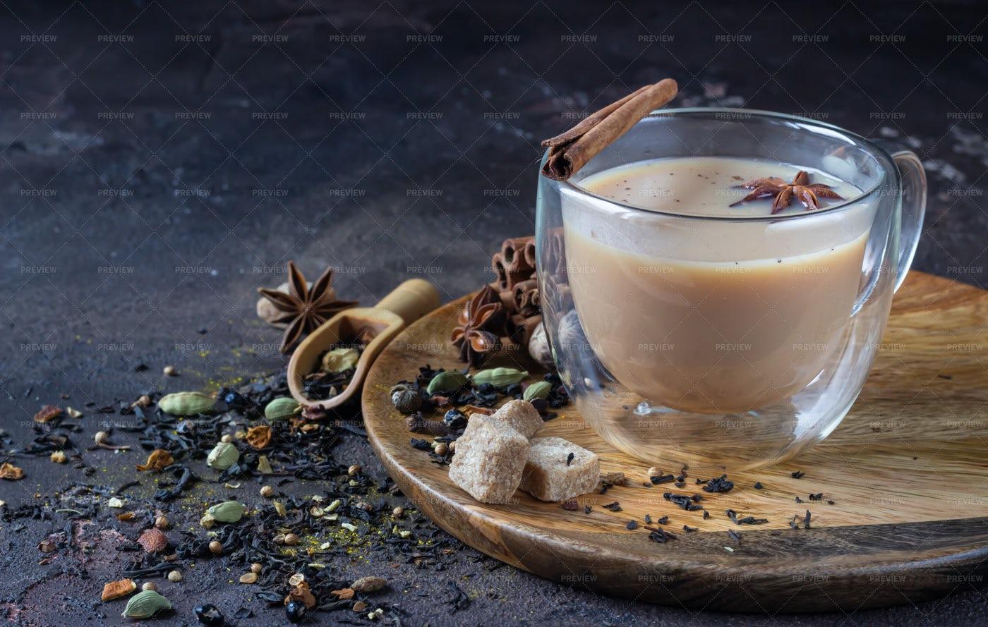 Masala Chai Tea: Stock Photos