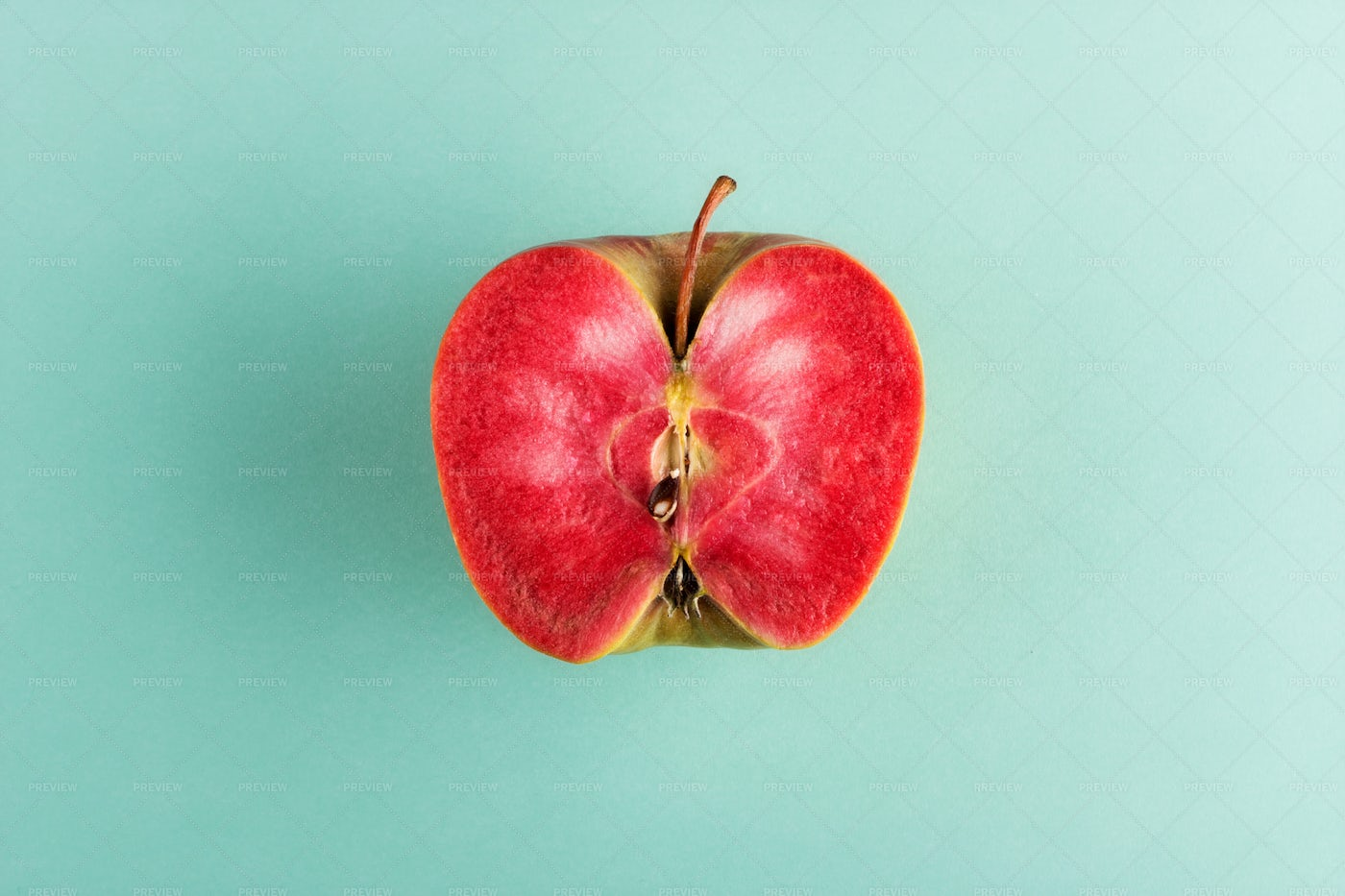 Apple With Red Flesh: Stock Photos