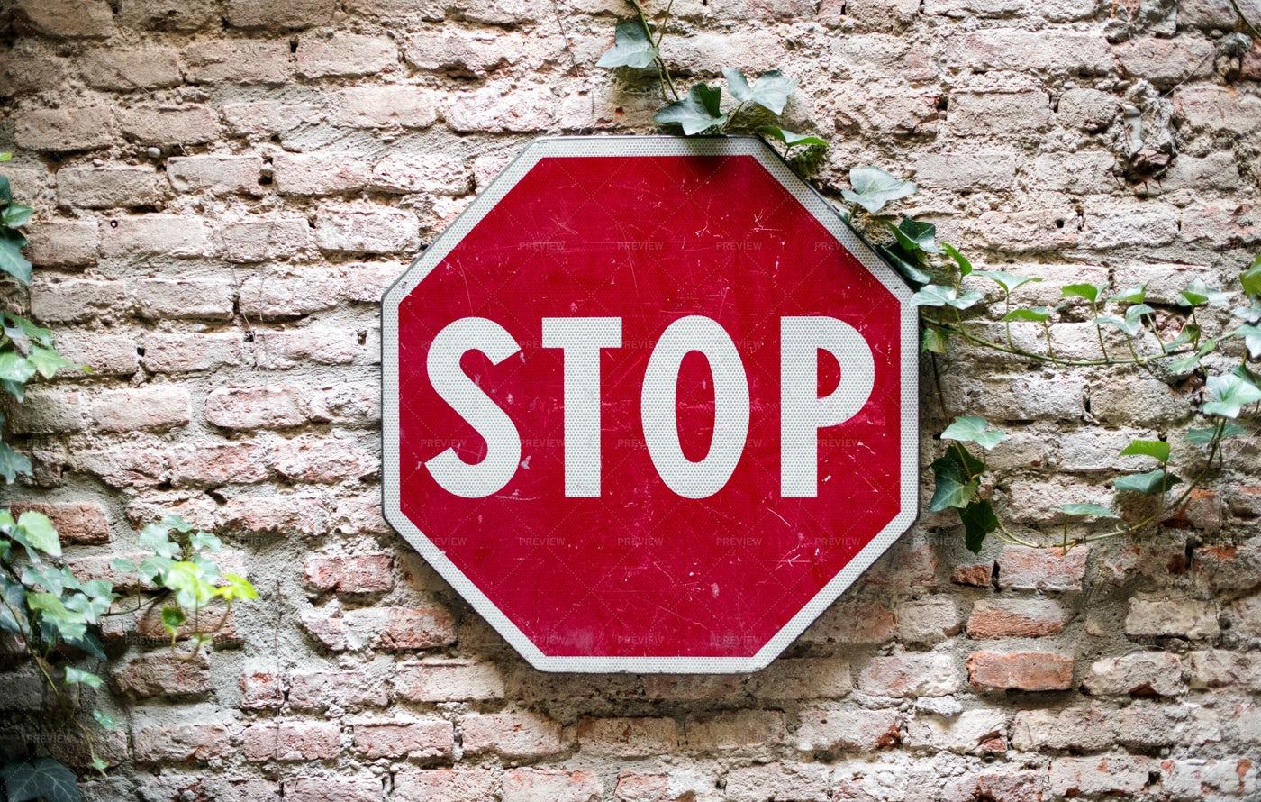 Stop Road Sign: Stock Photos