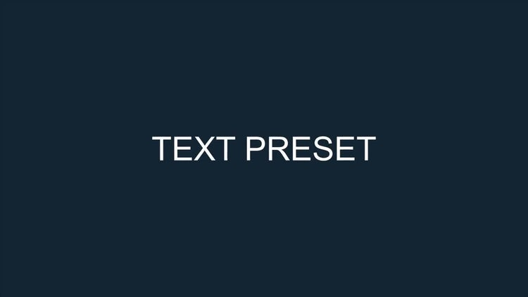 Text Animation Presets and Tool: After Effects Templates