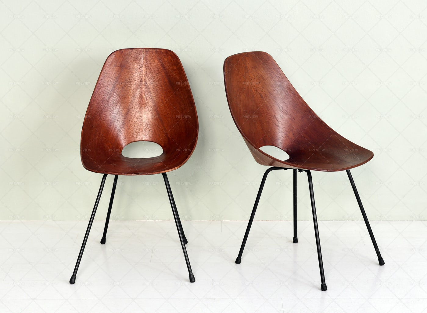 Vintage Wooden Chairs: Stock Photos