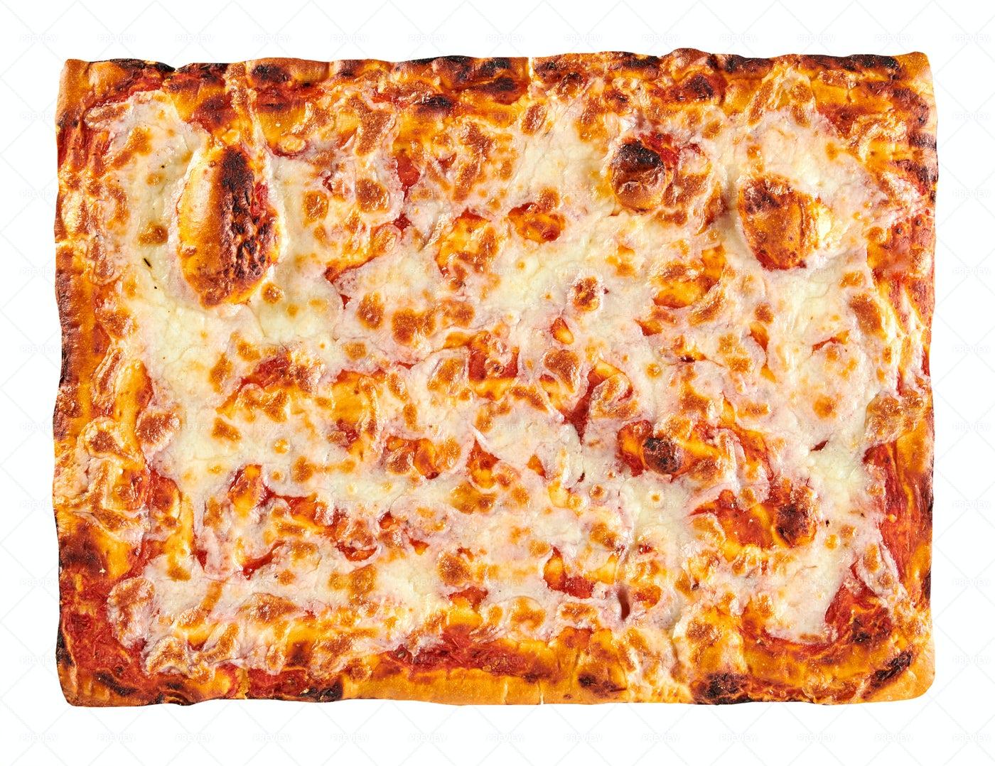 Rectangular Margherita Pizza: Stock Photos