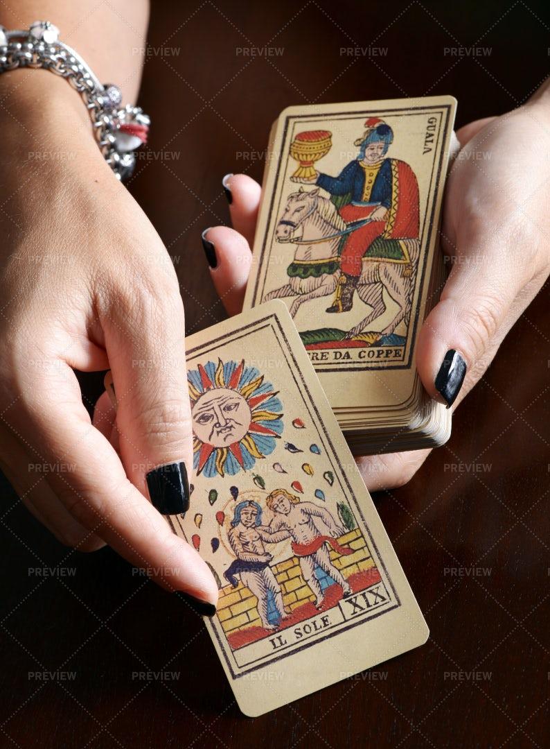 A Tarot Reading: Stock Photos