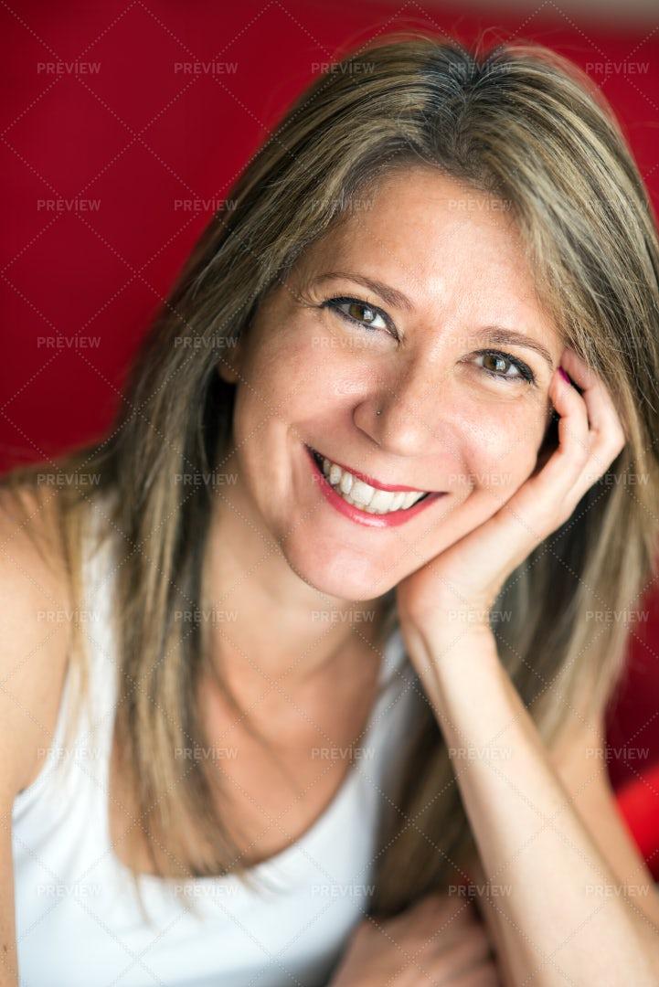 Adult Woman Smiling: Stock Photos
