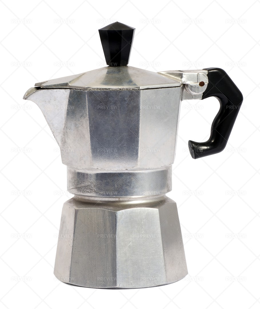 Metal Coffee Percolator: Stock Photos