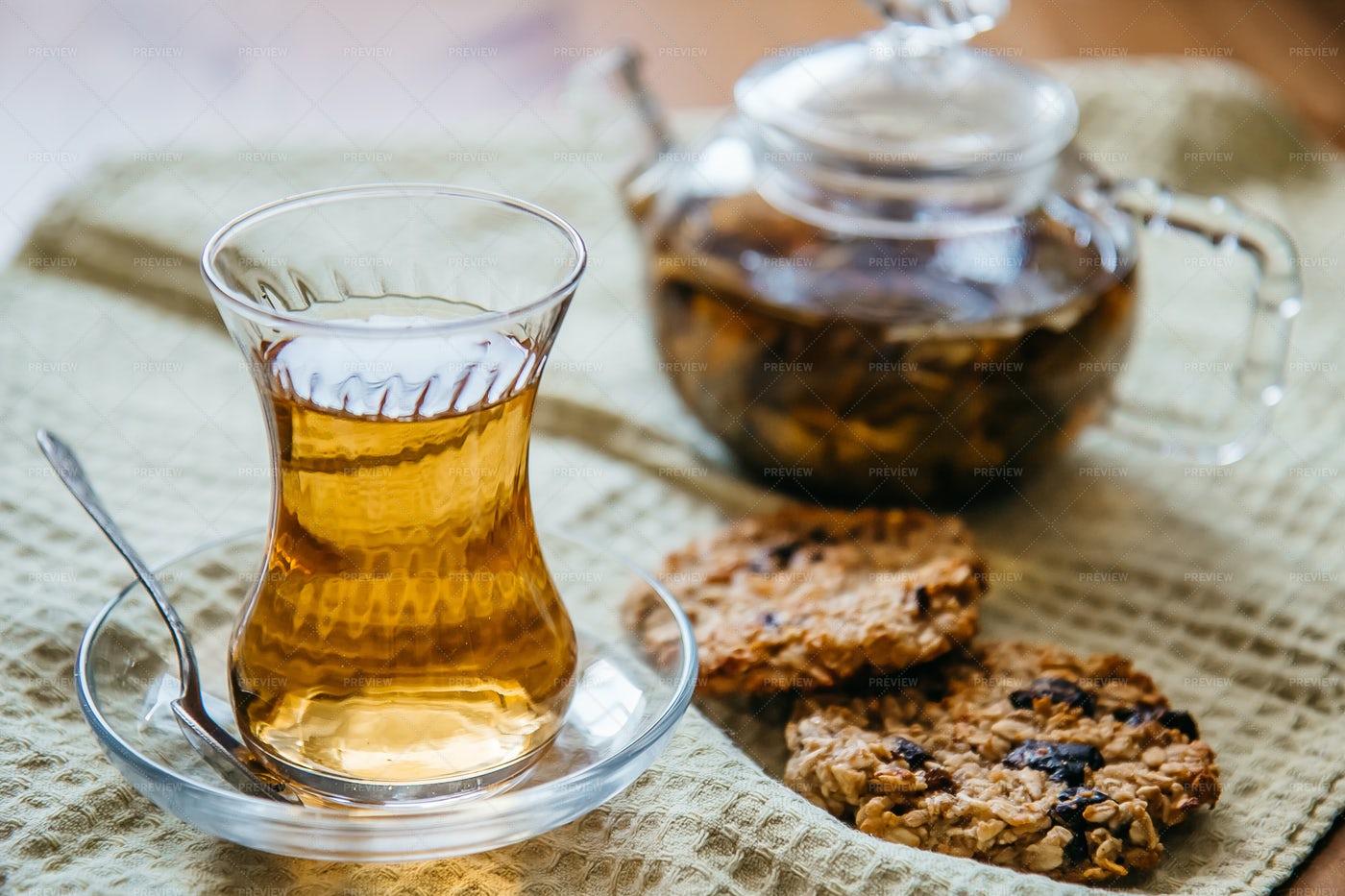 Glass Of Herbal Tea: Stock Photos