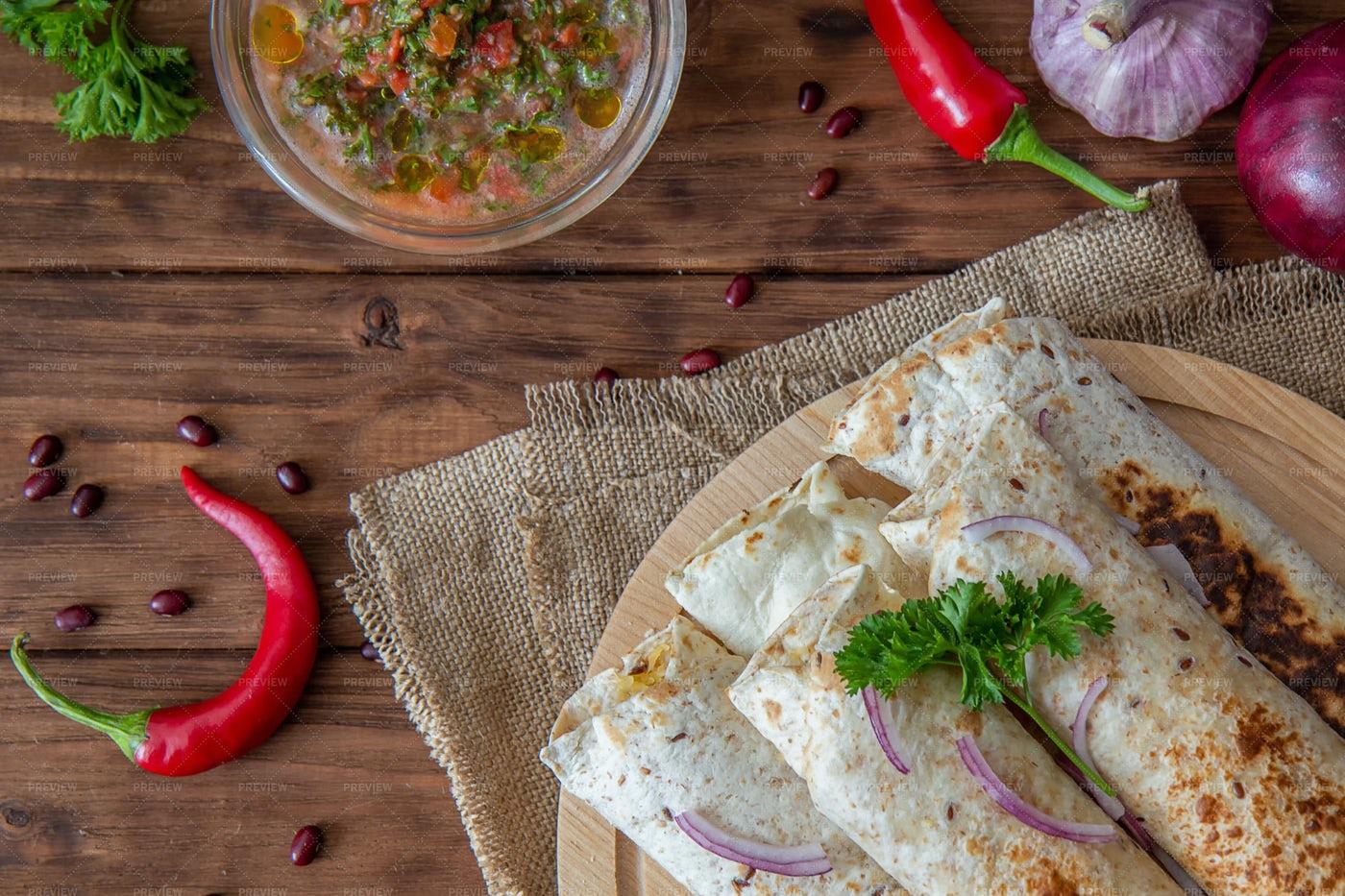 Prepared Burritos: Stock Photos
