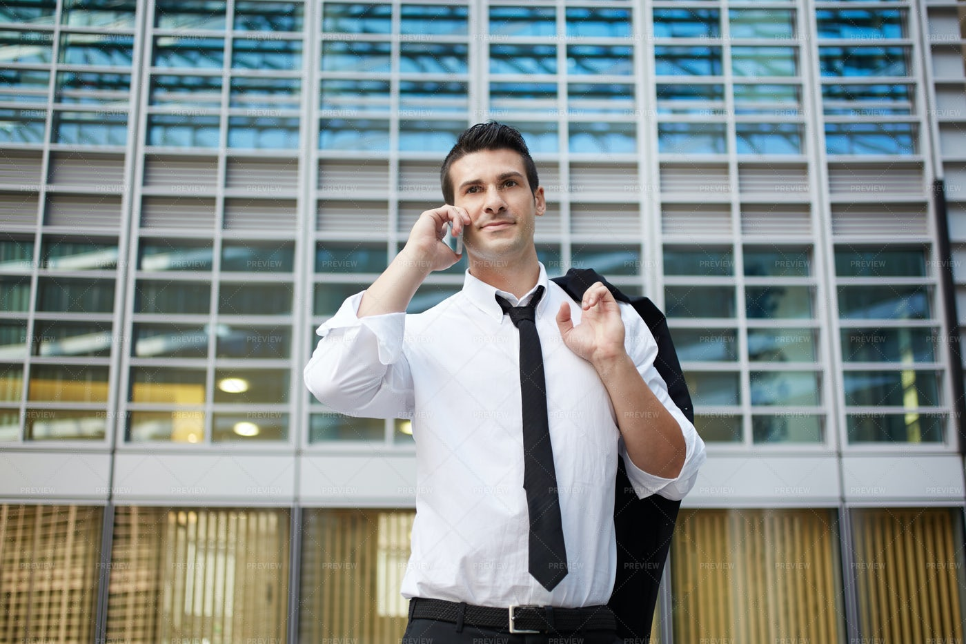 Important Business Call: Stock Photos