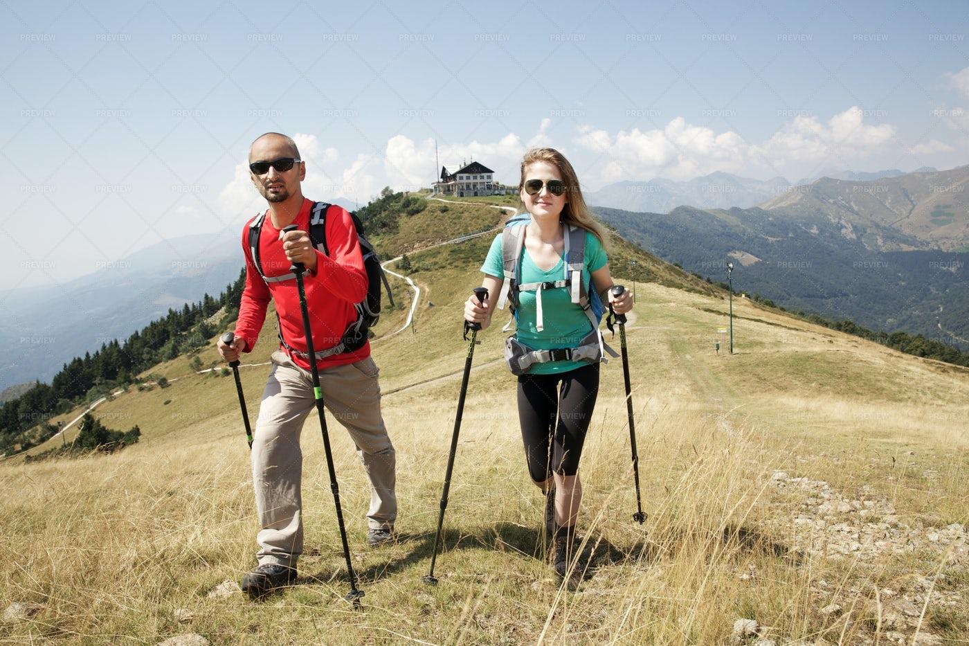 Hiking A Trail: Stock Photos