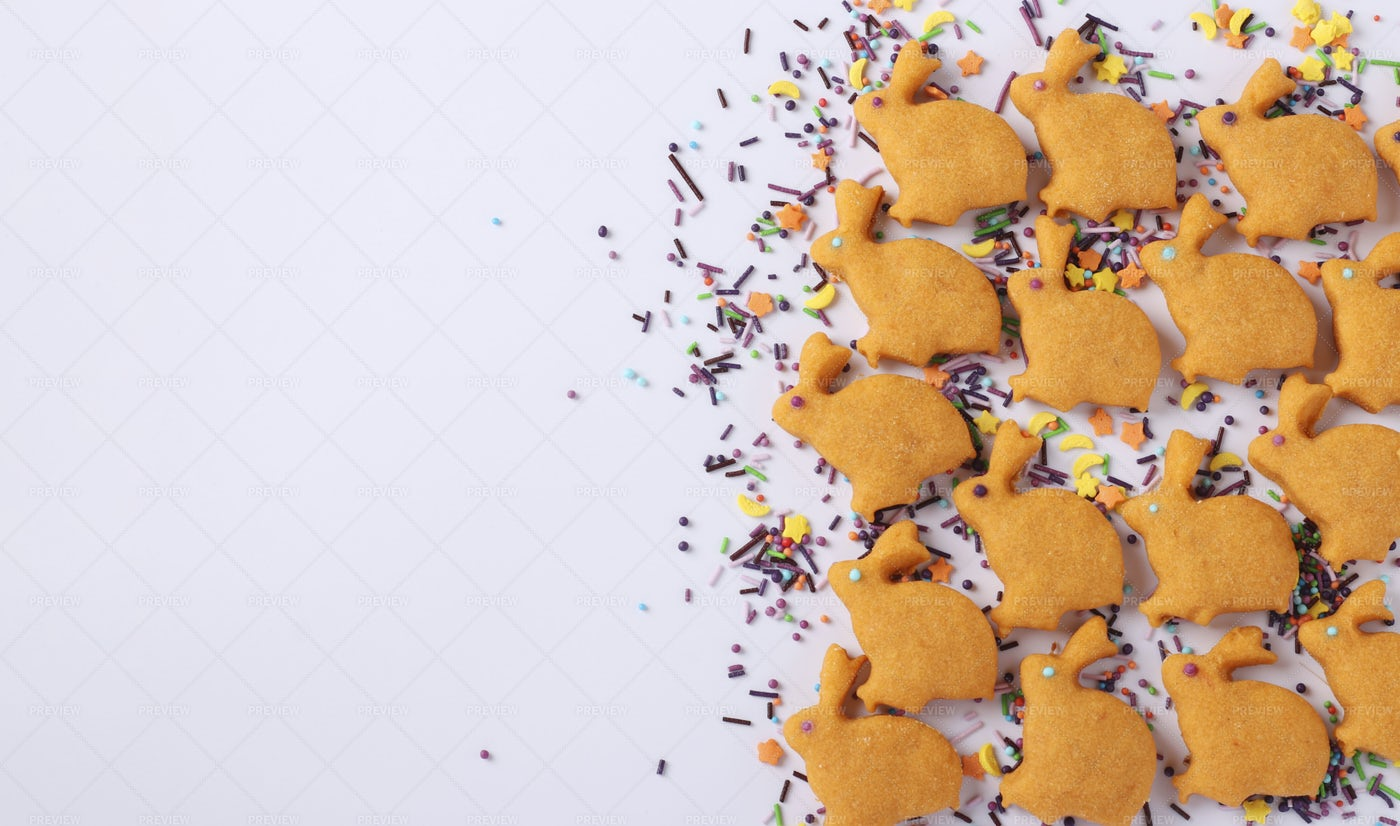Easter Bunny Cookies: Stock Photos