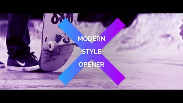 Modern Style Opener: After Effects Templates