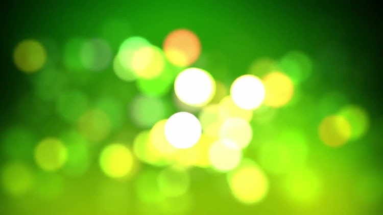 Lime Bokeh Loop: Stock Motion Graphics