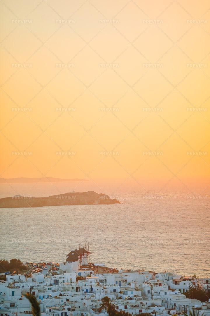 Sunset Over Greece: Stock Photos