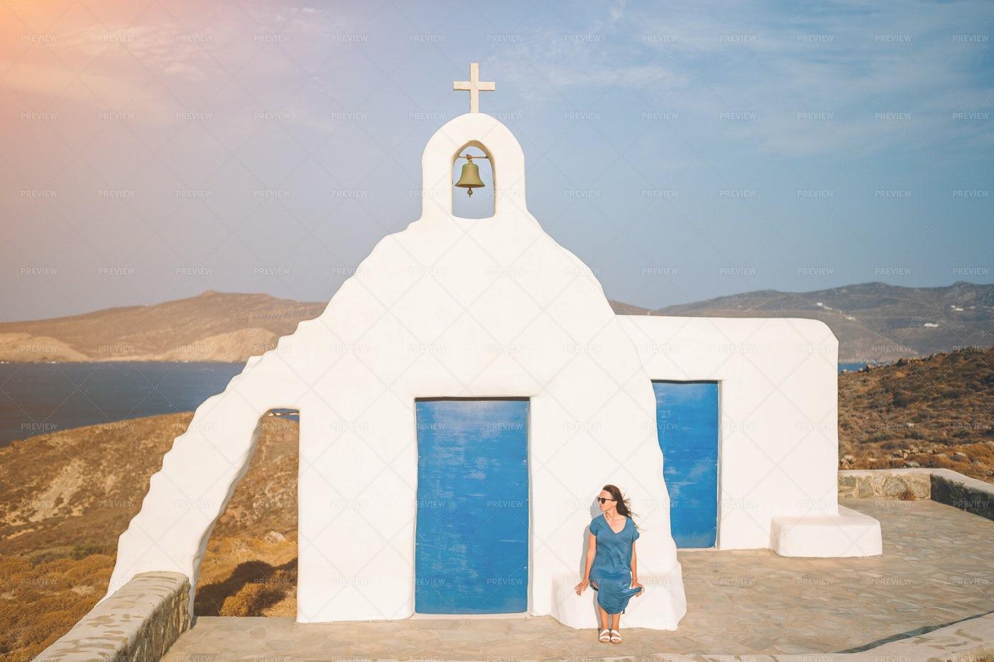 Beside The White Church: Stock Photos