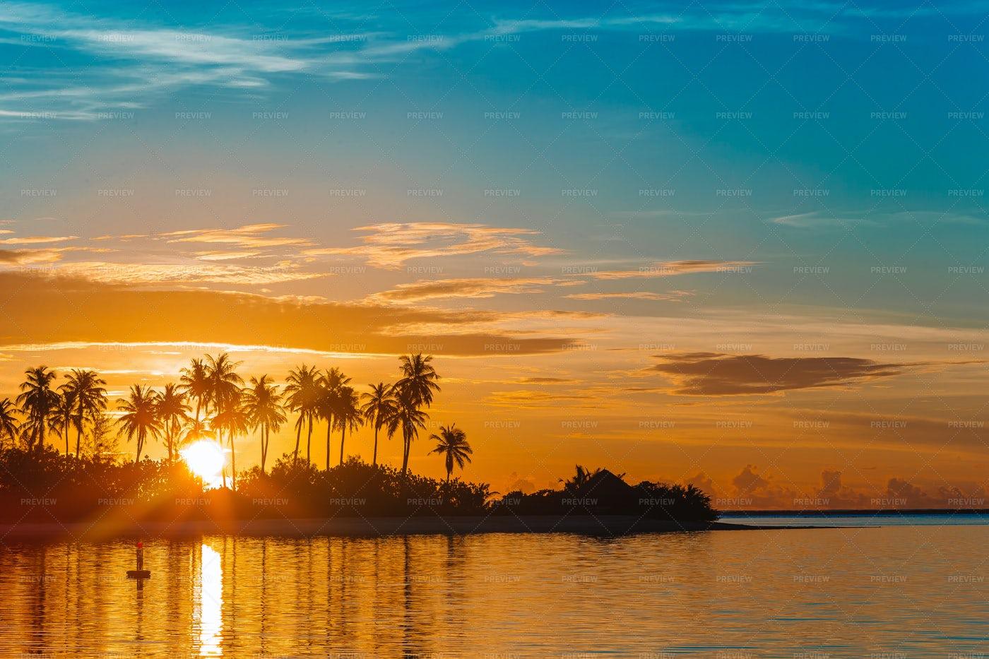Beach Sunset: Stock Photos