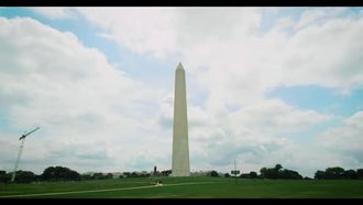 Washington Monument Timelapse With Clouds : Stock Video