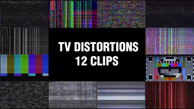 TV Distortions: Stock Motion Graphics