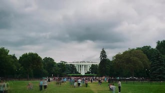 White House Time Lapse With Clouds : Stock Video