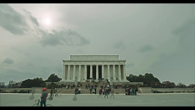 Lincoln Monument Time Lapse: Stock Video