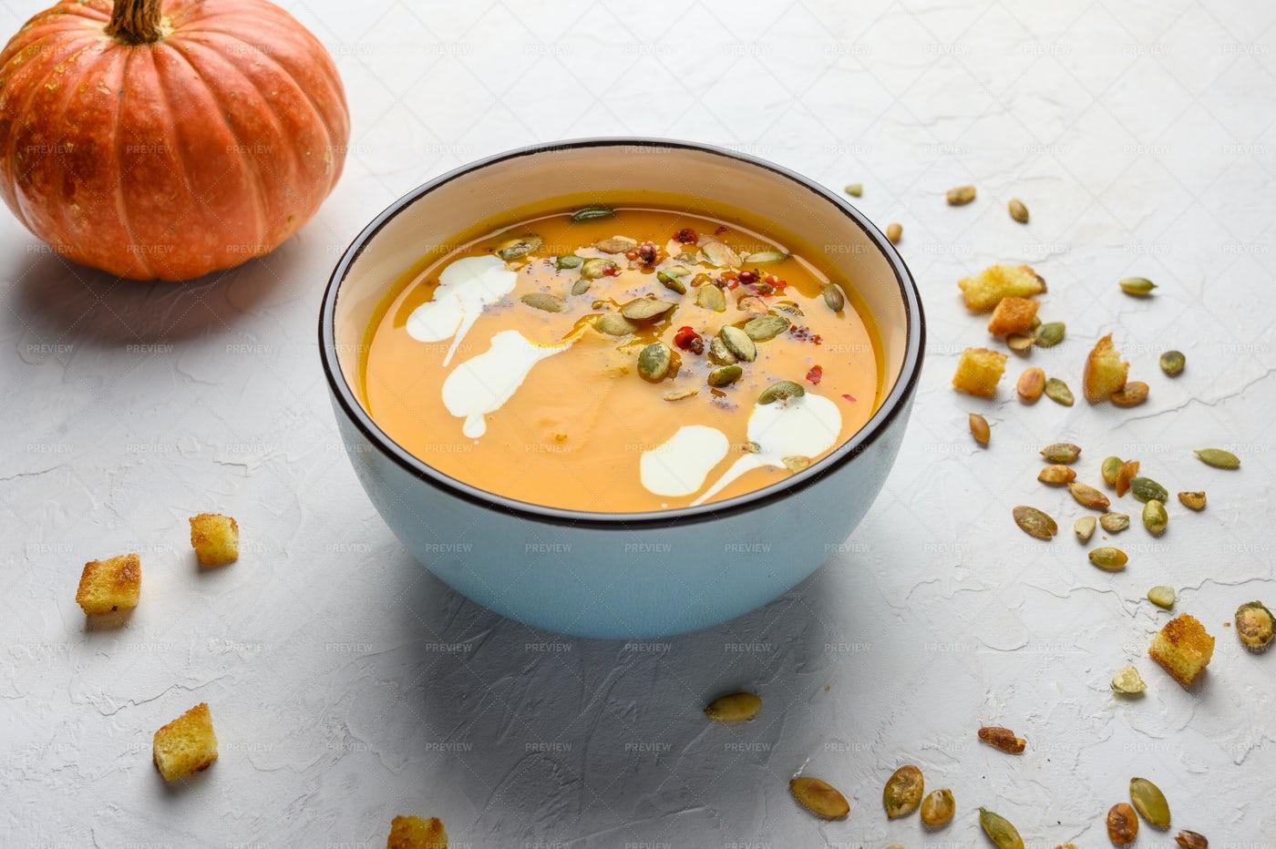 Healthy Cream Soup: Stock Photos