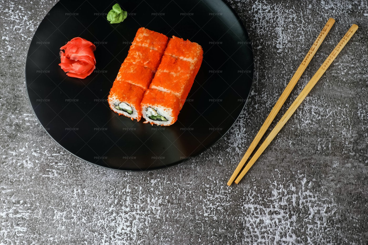 Rolls With Shrimp: Stock Photos