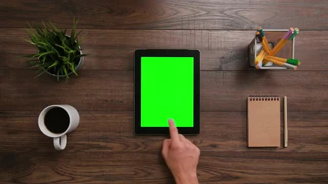 Two Right Horizontal Scrolls iPad: Stock Video