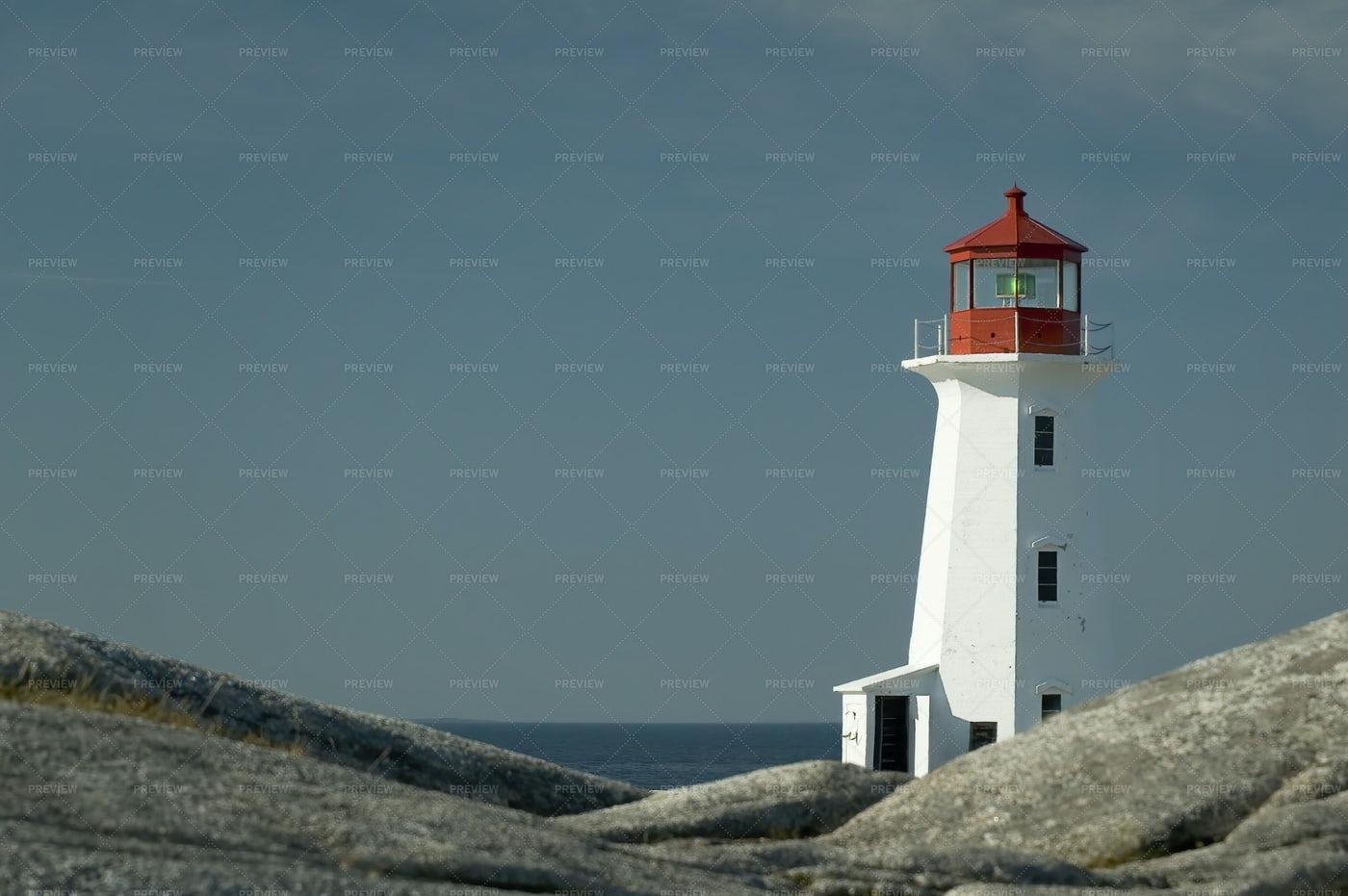Peggys Point Lighthouse: Stock Photos