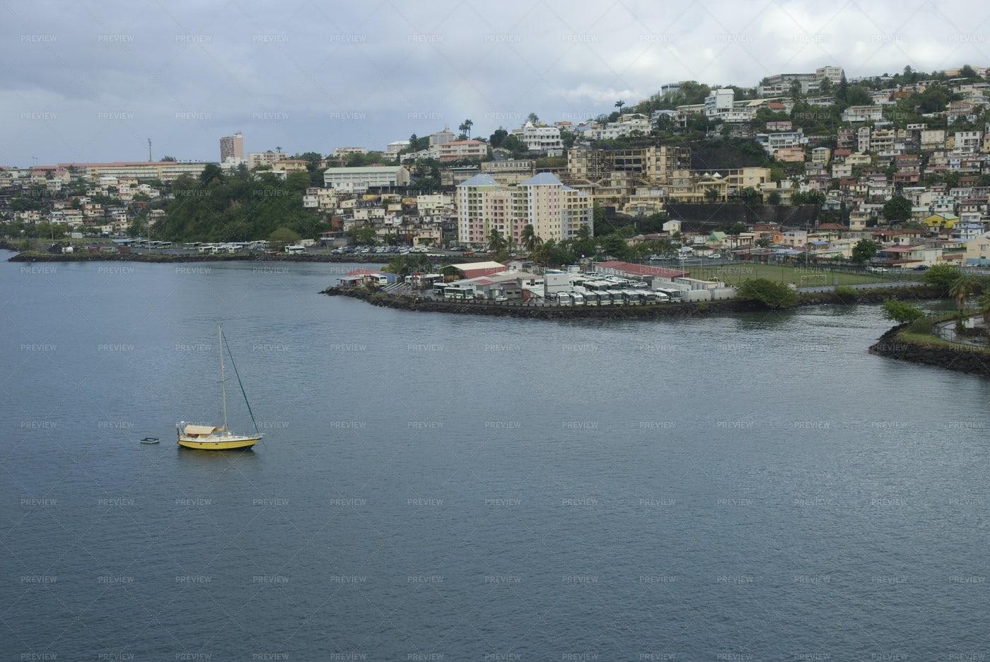 Aerial View Of Martinique: Stock Photos