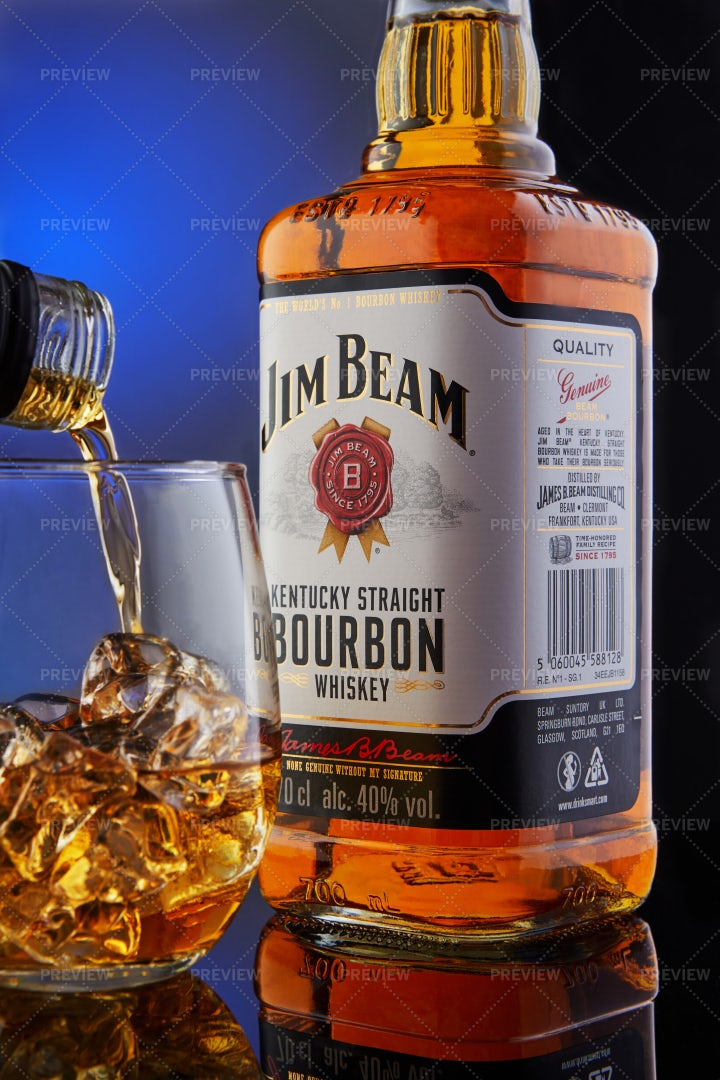 Bottle Of Jim Beam Whiskey: Stock Photos