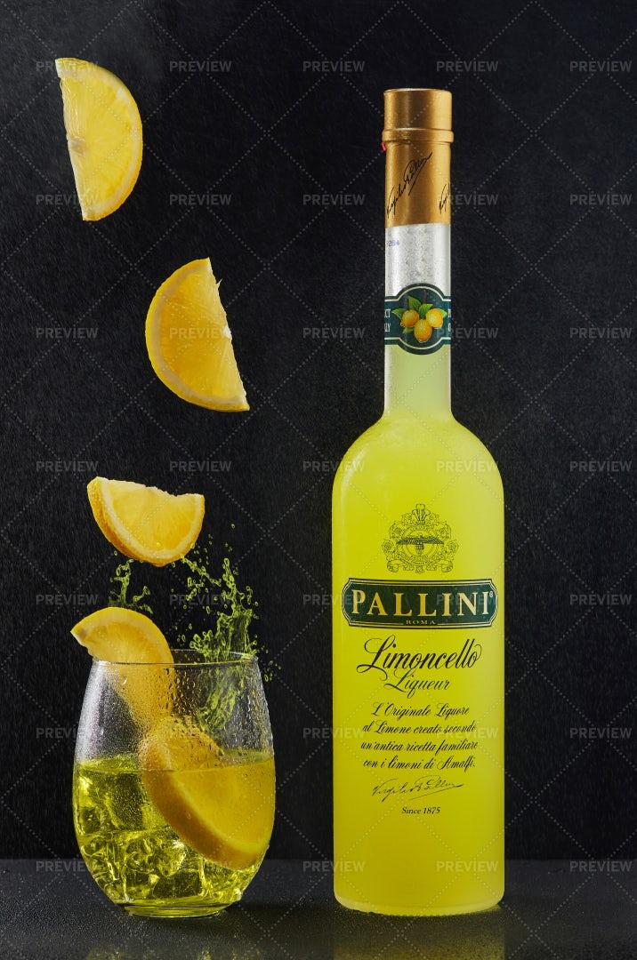 Pallini Lemon Liquor: Stock Photos