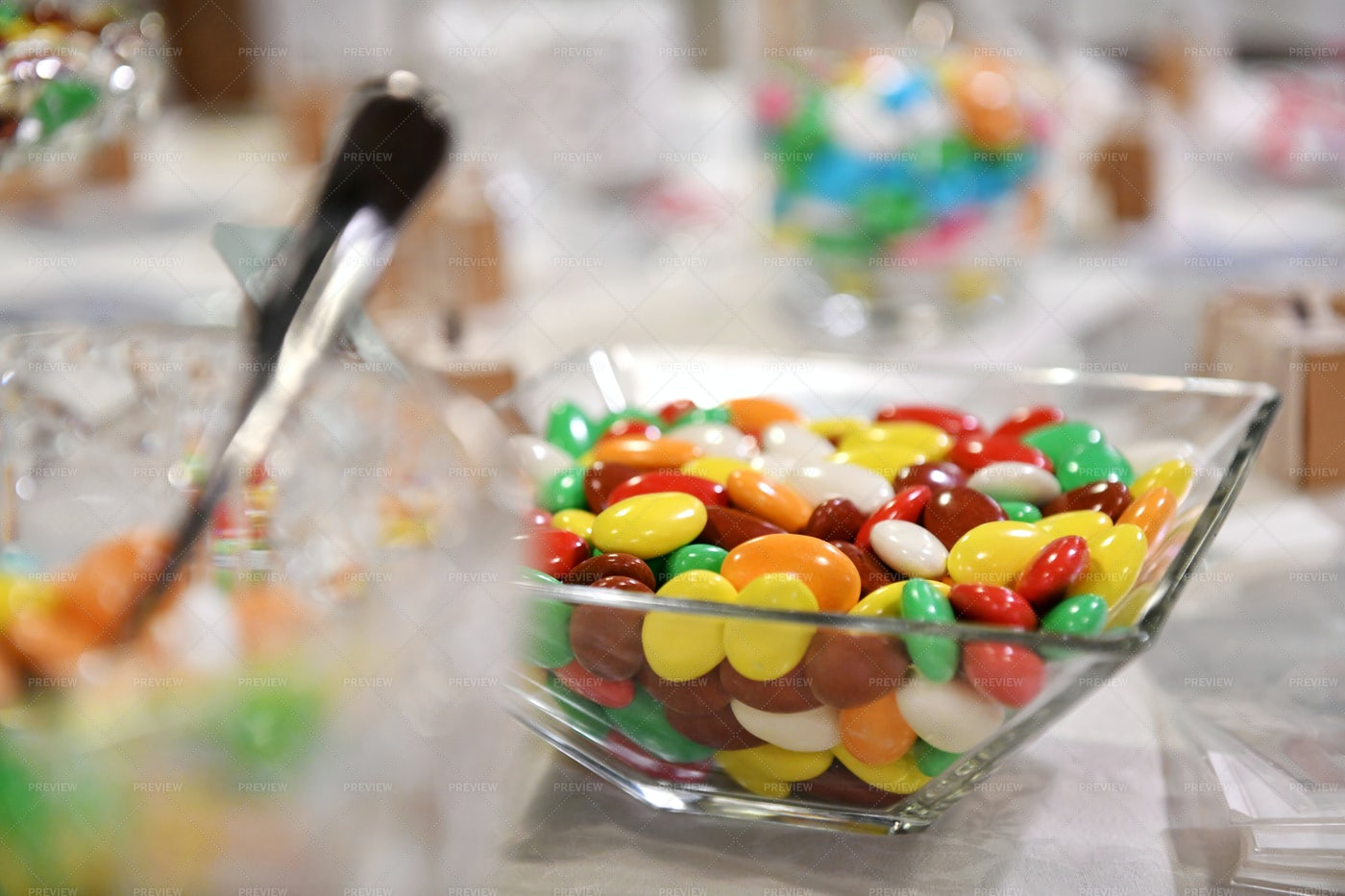 Bowl Of Colored Candies: Stock Photos