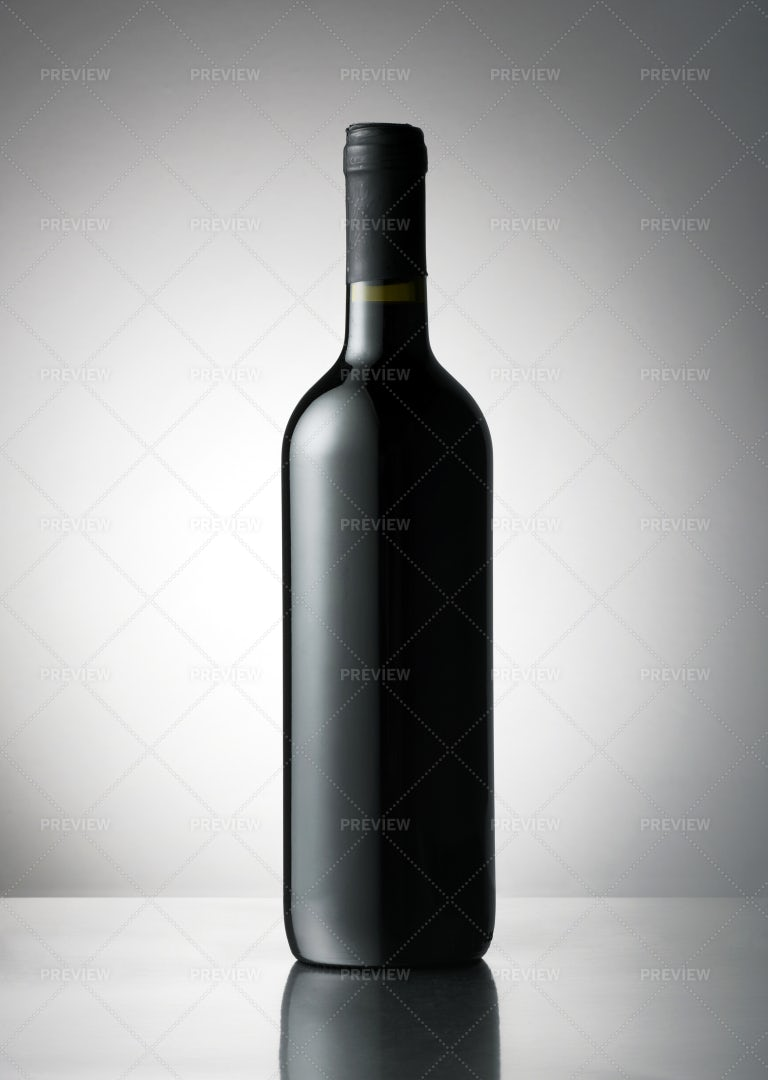 Dark Wine Bottle: Stock Photos