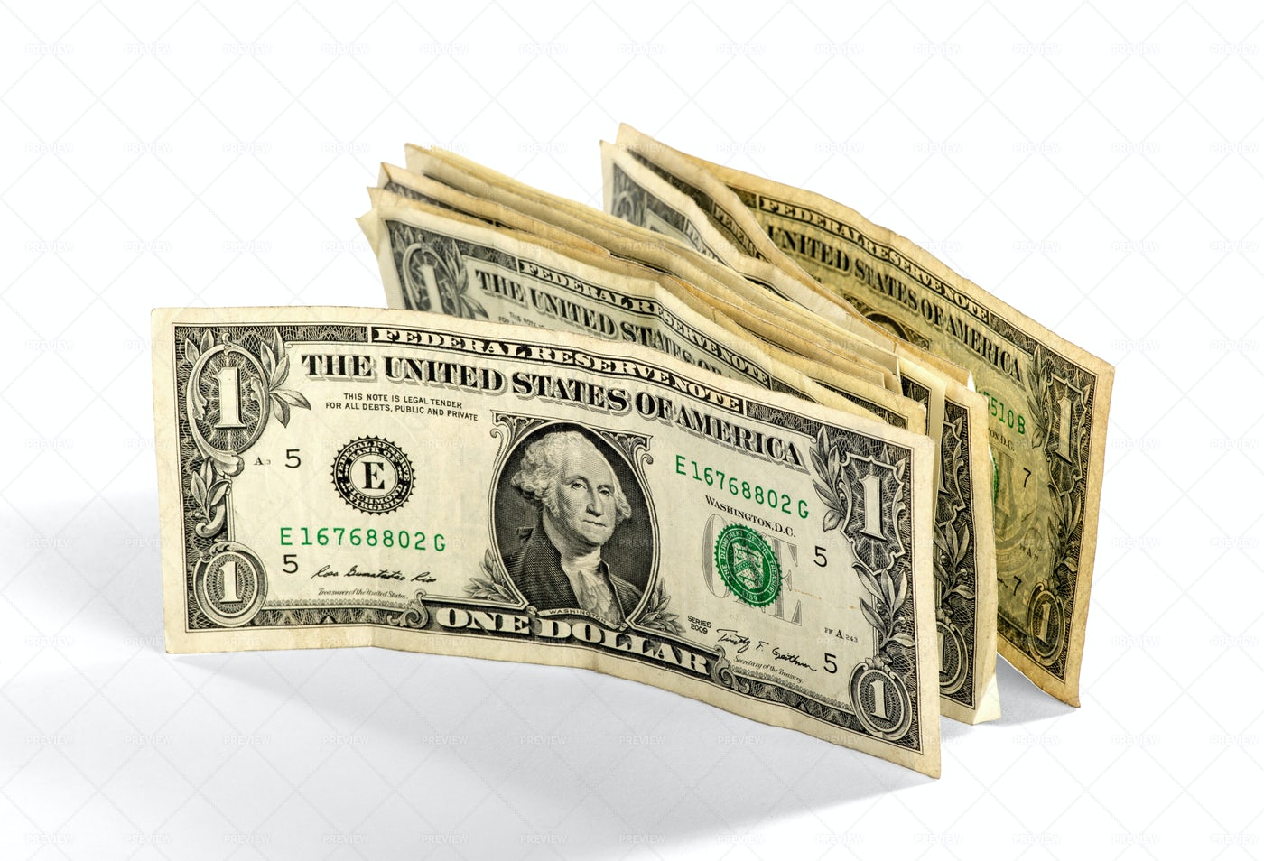 Wad Of Dollar Bills: Stock Photos