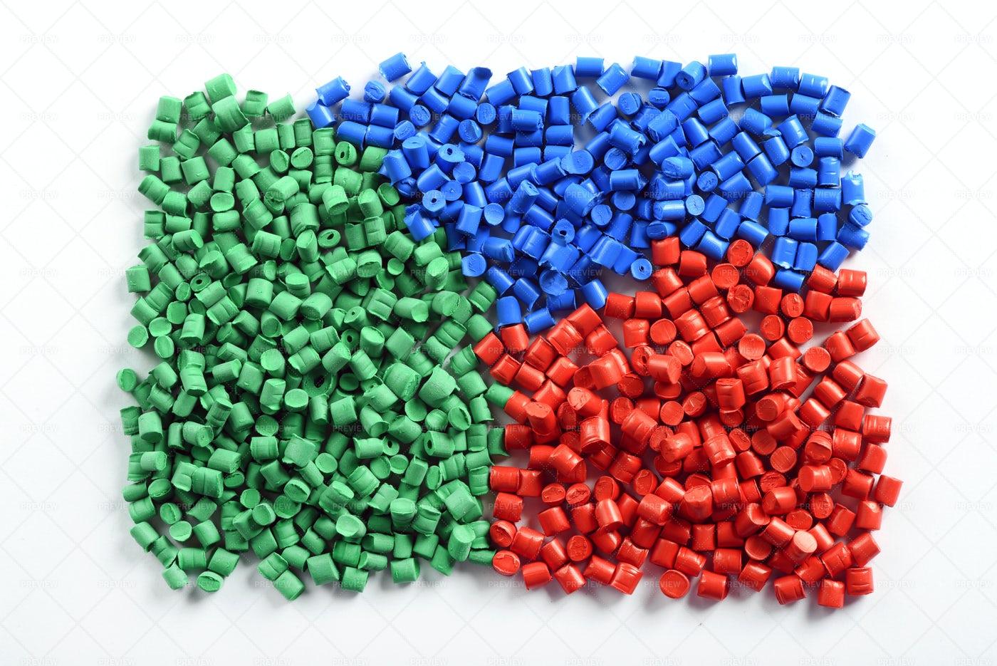 Molded Plastic Pellets: Stock Photos