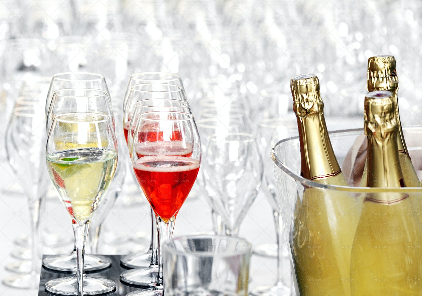 Poured Champagne: Stock Photos