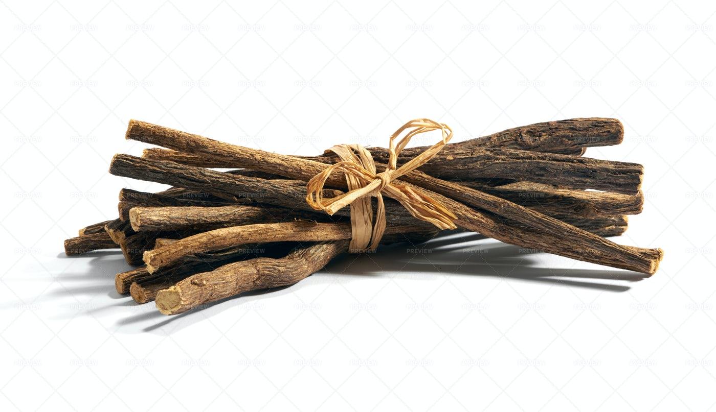 Bundle Of Licorice Root: Stock Photos
