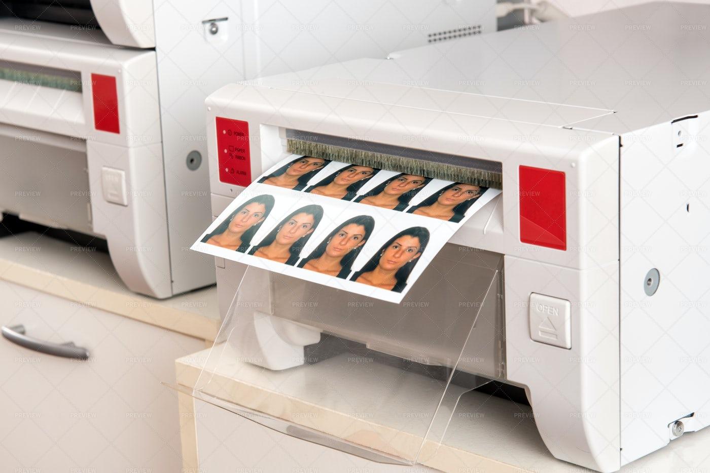 Printing Passport Photos: Stock Photos